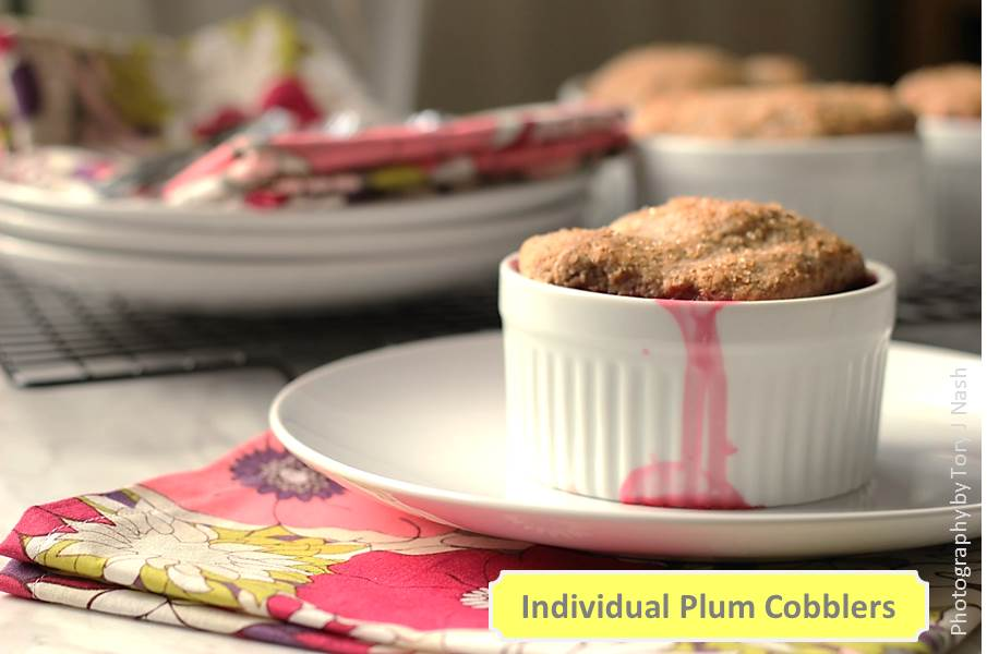 Individual Plum Cobblers